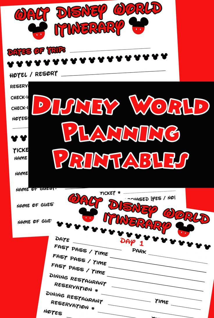 Planning a trip to Disney World? Download this free planning itinerary #Disney