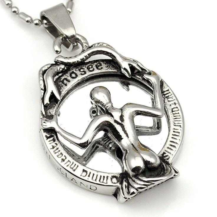 Ретро змея ведьма зеркало ожерелье кастинг нержавеющей стали 316l для женщин высокого качества старинные ювелирные изделия WP1018 купить на AliExpress