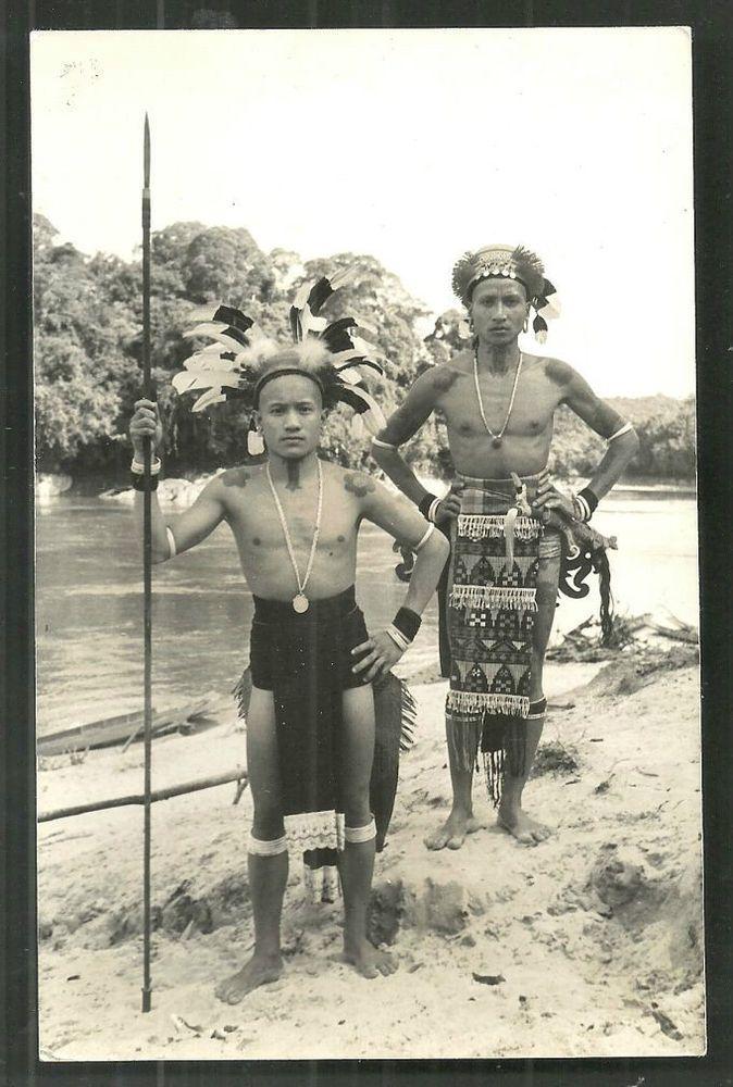 Dayak Warriors Tattoo Spear Sarawak Borneo Malaysia
