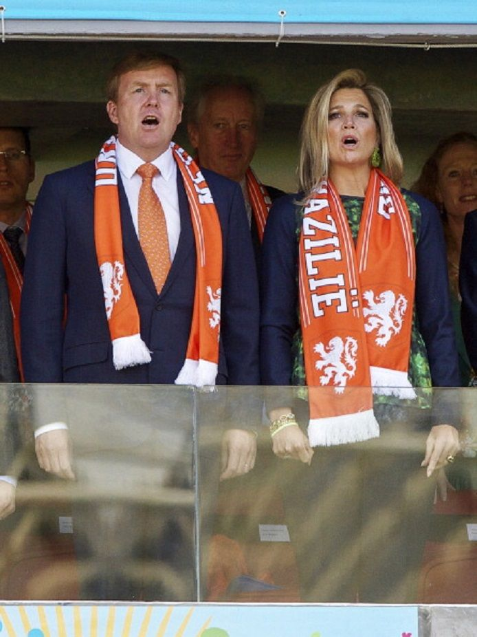 king Willem Alexander of Holland, queen Maxima of Holland during the FIFA World Cup match between Australia and The Netherlands, 18.06.2014 at Estadio Beira Rio in Porto Alegre, Brazil.