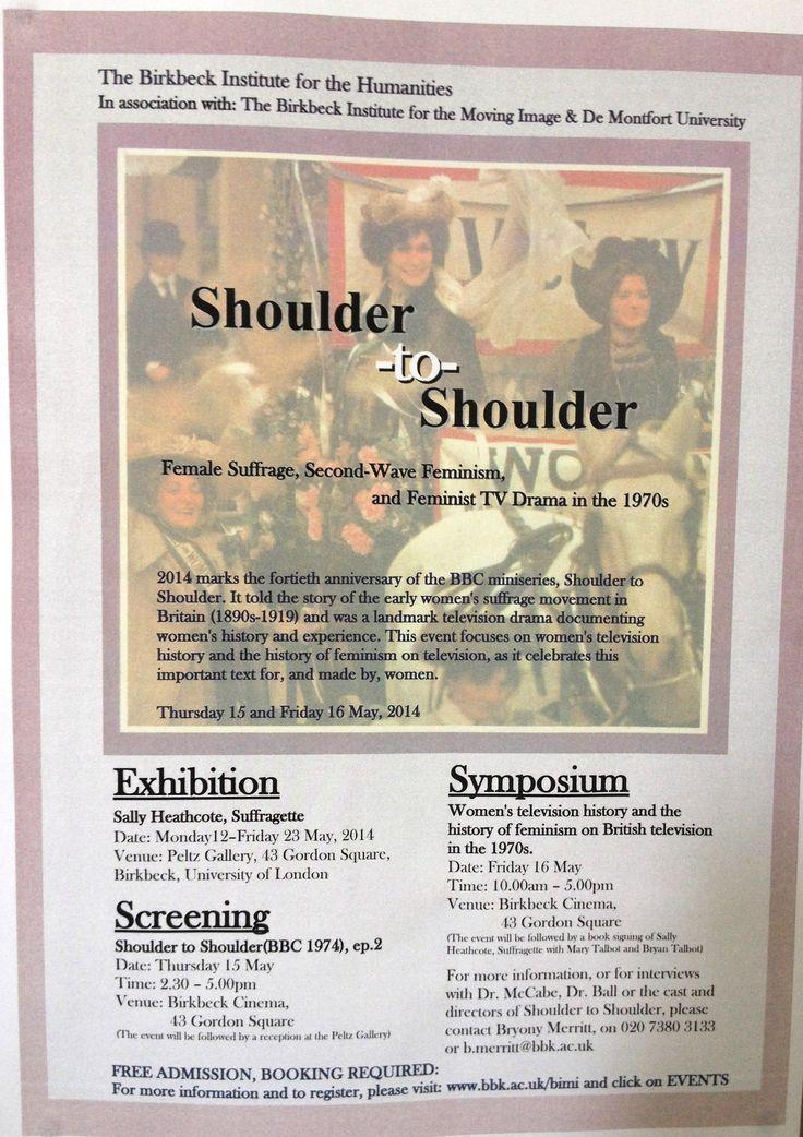 Shoulder to shoulder exhibition: poster