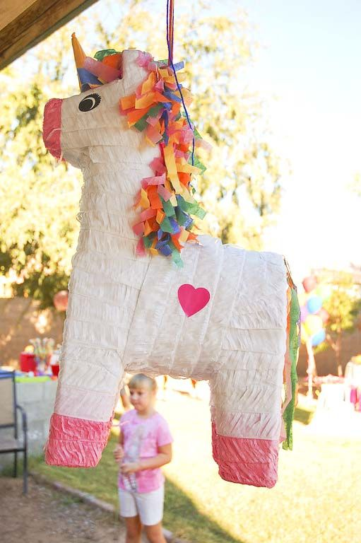Rainbow Unicorn Birthday Party | TikkiDo.com