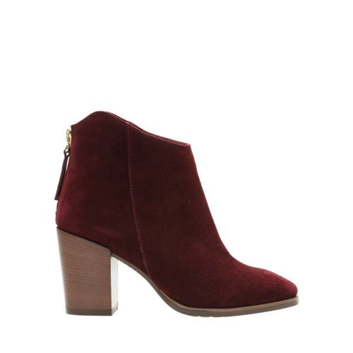 41035e6af6a Lora Lana Burgundy Suede - Women's Booties & Ankle Boots - Clarks® Shoes  Official Site