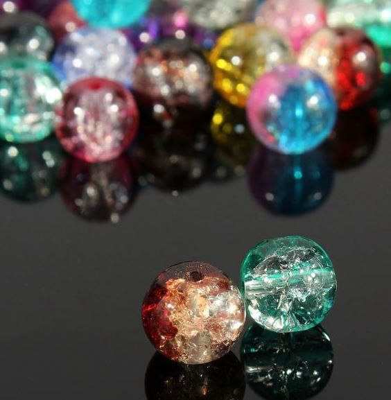 Jewelry Beads Loose Glass Loose Spacer Crystal 100 by SuppliesDiy