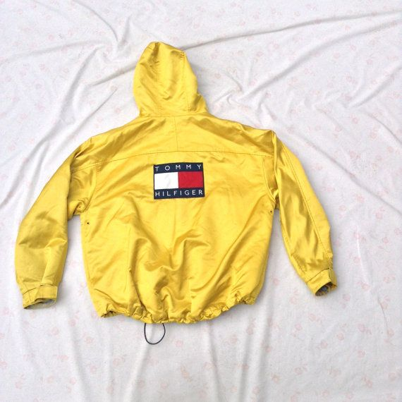 TOMMY HILFIGER Jacket // Yellow Shiny SWAG // by TheDandyRapper
