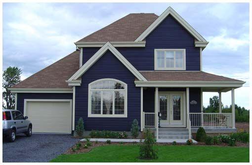 Tonos de azul fachadas pinterest for Fachadas de casas pintadas