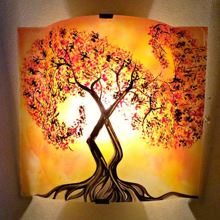 les 43 meilleures images du tableau luminaire peinture sur verre sur pinterest artisanales. Black Bedroom Furniture Sets. Home Design Ideas