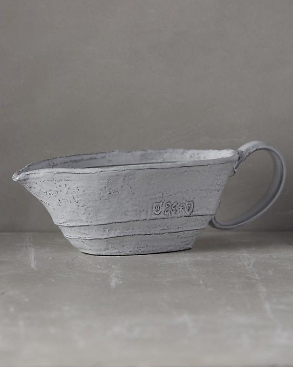Anthropologie Glenna Gravy Boat Italy Gray Rustic Country Weathered Look NIB #ANTHROPOLOGIE