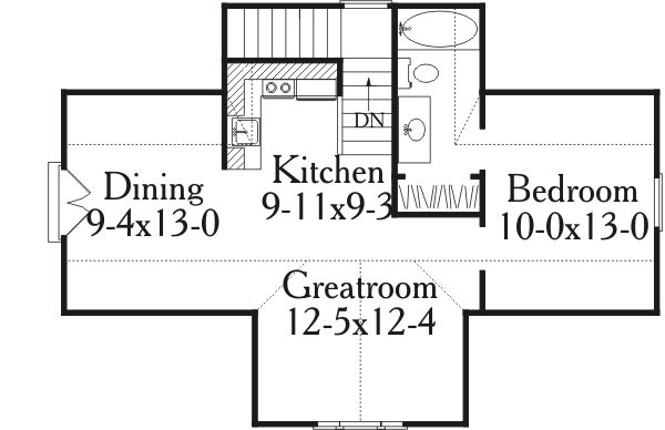 Plan 62087V: Handsome Carriage House Apartment