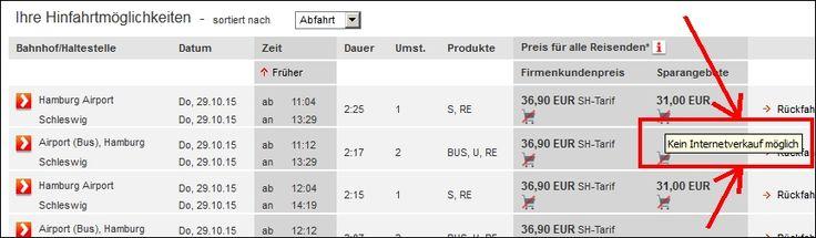 """Dieses Versprechen der DB stimmte nicht: """"Das Online-Ticket der Deutschen Bahn: Einfach, schnell und bequem buchen."""" Meldung: """"Kein Internetverkauf möglich""""  :-(  :-("""