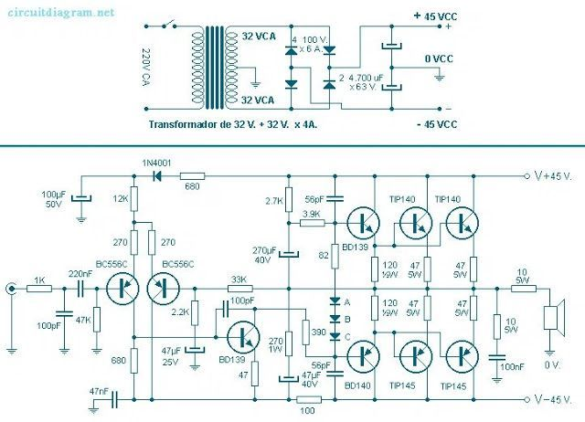 260 Watt Power Audio Amplifier