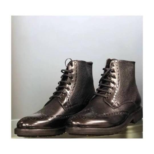 Corneliani leather boots.