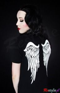 Angel wings t-shirt <3 - this made me think of you :) Restyle has the most awesome t-shirts! There are three or four wing style shirts to choose from.