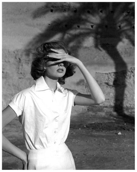 Suzy Parker, photo by Georges Dambier, Morocco, ELLE, April 27, 1953