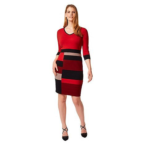 Studio 8 Sizes 12-26 Red carolyn dress | Debenhams