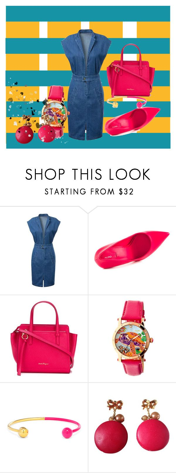 """""""Untitled #205"""" by frupapp on Polyvore featuring ALDO, Salvatore Ferragamo, Bertha, BaubleBar and N2 By Les Nereides"""