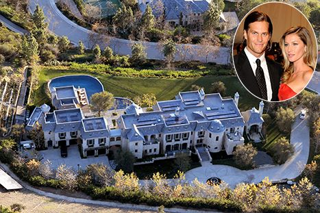Tom Brady and Gisele Bundchen's 20 million dollar eco-friendly mansion in Brentwood, California.
