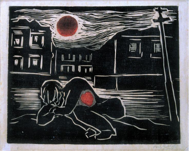 Untitled - Wood Engraving by Oswaldo Goeldi - 1937