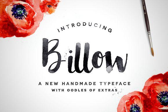 Billow Font + Extras by Flycatcher Design on Creative Market