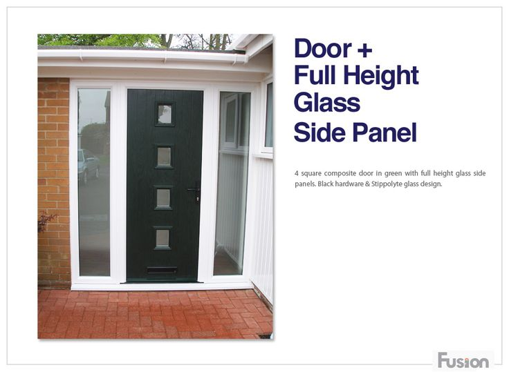 Composite side panels create a real contemporary front for Contemporary upvc front doors