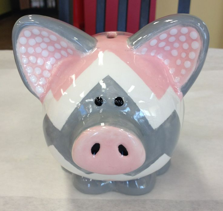 43 best kid 39 s items images on pinterest ceramic for How to paint a ceramic piggy bank