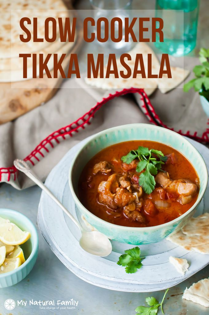 Clean Eating Slow Cooker Chicken Tikka Masala Recipe #CrockPot #SlowCooker #TikkaMasala #recipe