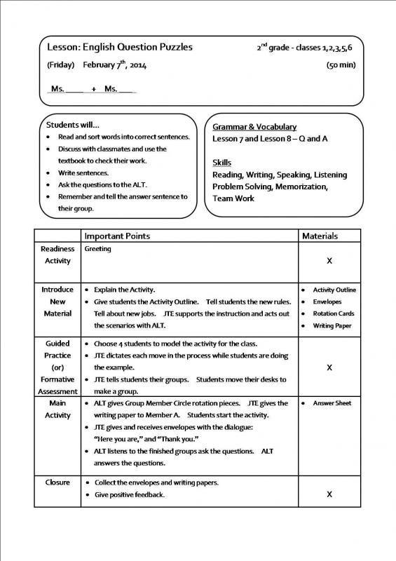 Sample Lesson Plans Lesson Plan Examples Lesson Plan Templates