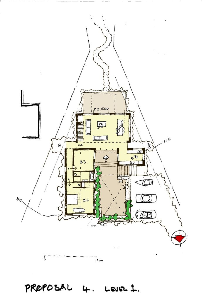 sketch plan for a proposed house in Betties Bay