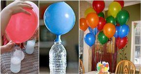 """""""Mira el truco de los japoneses para inflar globos. Nunca más usarás helio! """""""