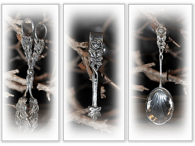 silver high tea flatware