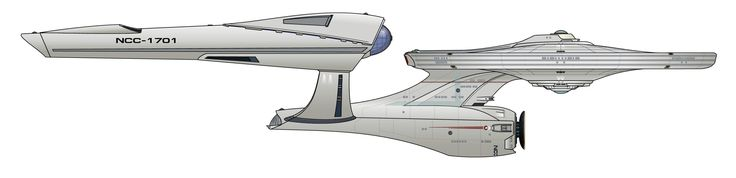 Starboard schematic of J.J. Abrams' U.S.S. Enterprise NCC-1701