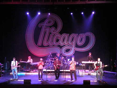Chicago band - invited backstage, by Walt Parazaider what an amazing group of musicians. Just a pleasure to hang out with in Boston.