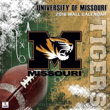 Turner Missouri Tigers 2016 12 inch x 12 inch Team Wall Calendar, Multicolor