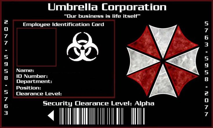 Umbrella Corporation ID by Xaphriel on deviantART