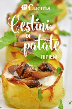 I cestini di #patate ripieni sono un #antipasto davvero molto originale e particolare perfetto da servire anche come #contorno.