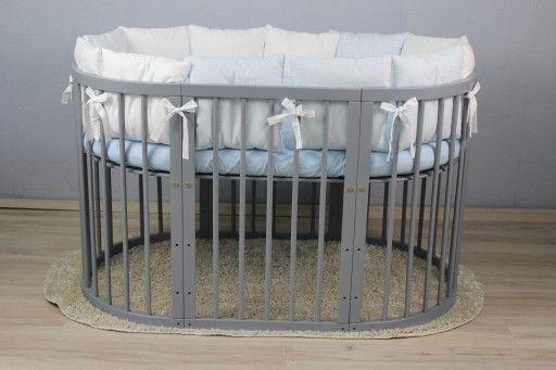 łóżko Drewniane Rosnące 7 W 1 Olchowe Okrągłe Pokój