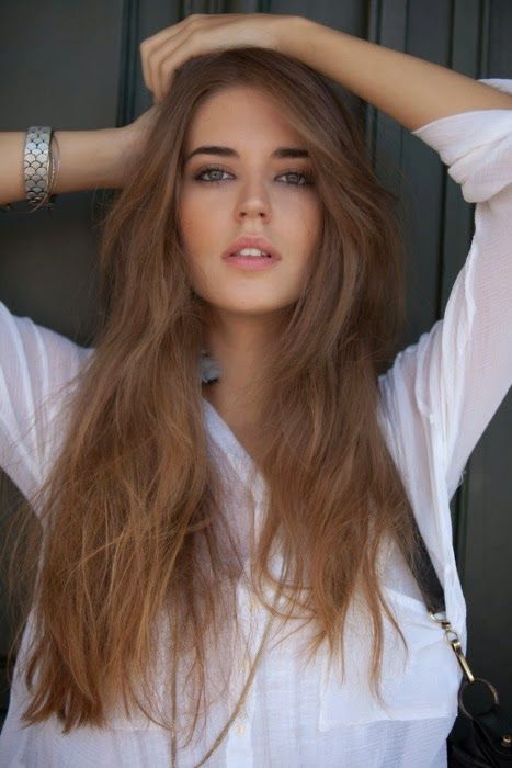 Girl with Honey Brown Hair