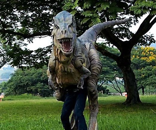 Stop dressing up in lame cliche costumes every Halloween - this year you can go as the scariest dinosaur ever with this life size baby T-Rex costume! Though your legs might be visible during day time, at night this incredibly realistic T-Rex costume will fool everyone!