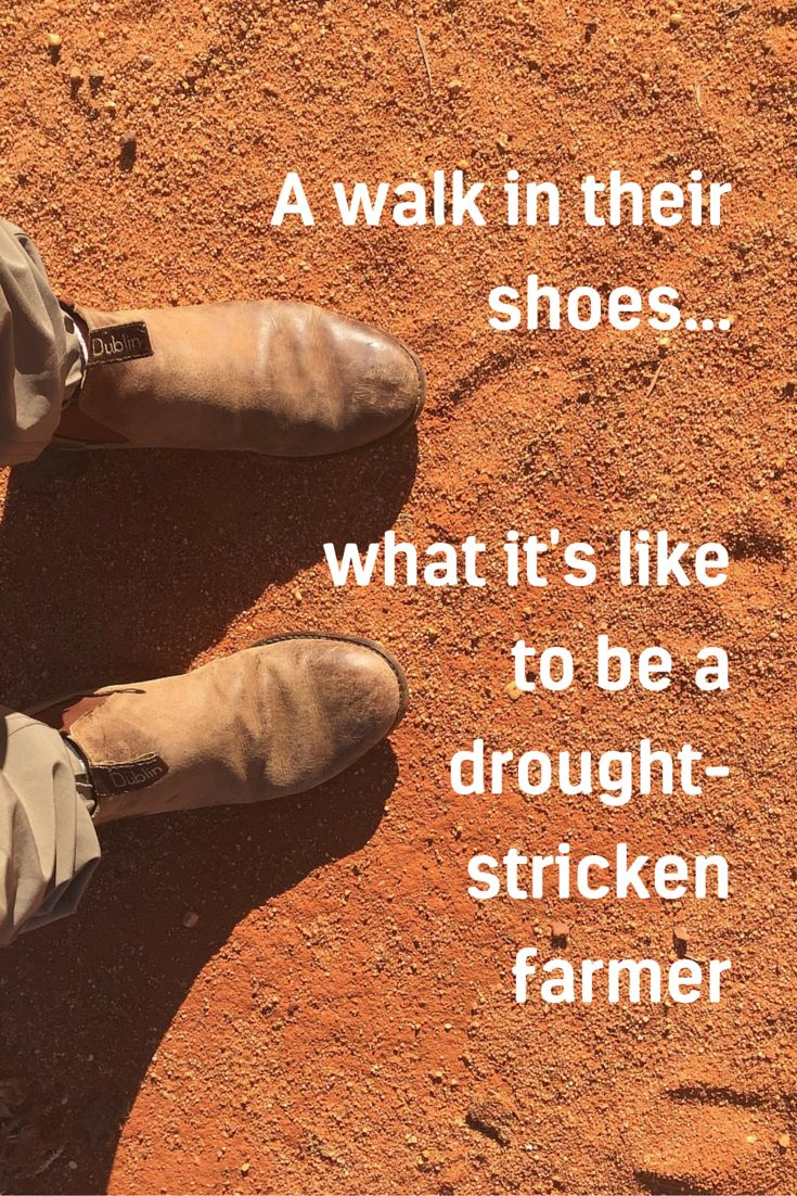 A walk in their shoes...what it's like to be a drought-stricken farmer http://bit.ly/LongreachDrought