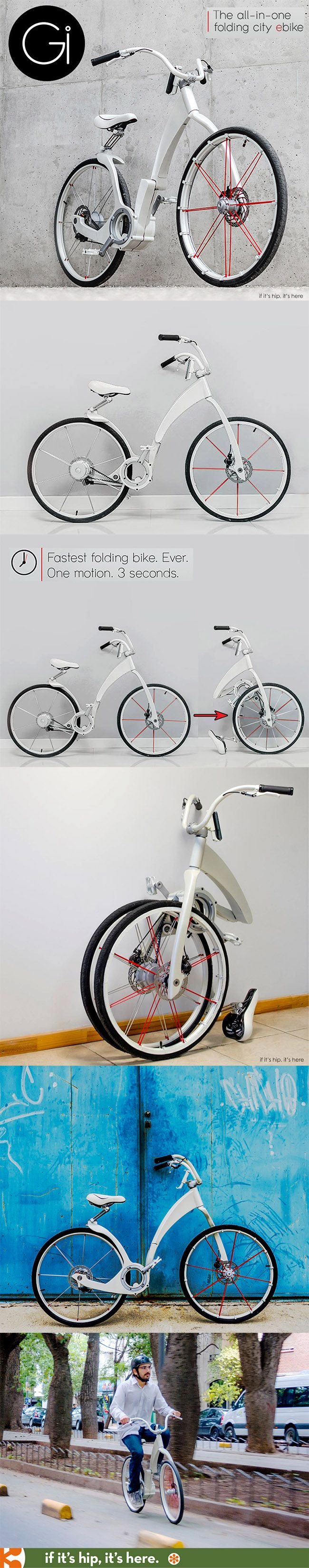 The fastest folding electric bike (3 seconds) with integrated wireless smartphone technology. So cool.