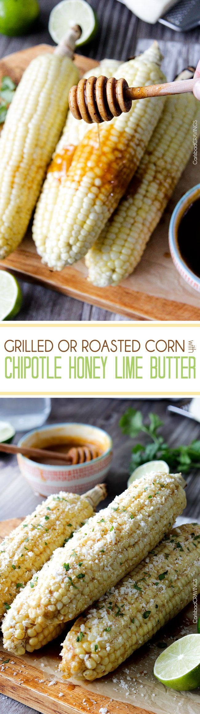 ... Lime Butter sprinkled with cilantro and cotija cheese! Perfect for the