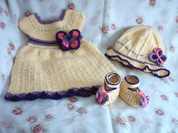 Baby Springtime Butterfly Dress Set for 6-12 Months / Baby