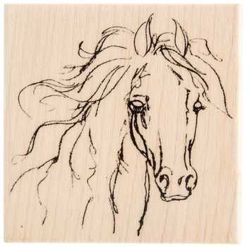 Filly Sketch Rubber Stamp