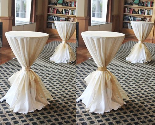 Image Result For Tied Linens Bistro Tables Red Cocktail