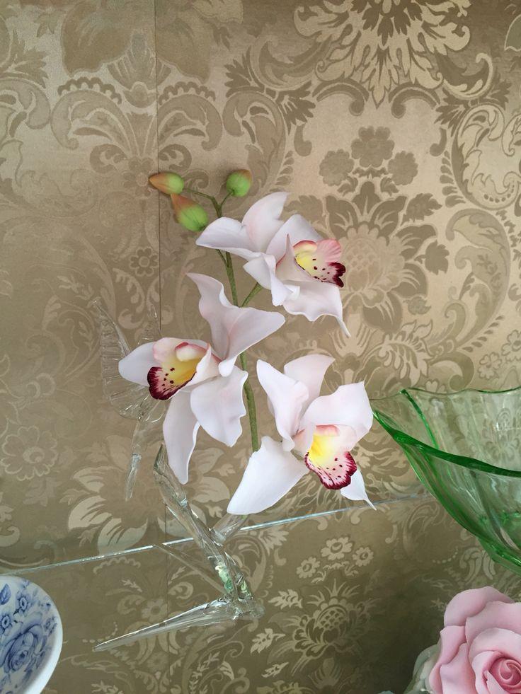 Handmade sugar orchids