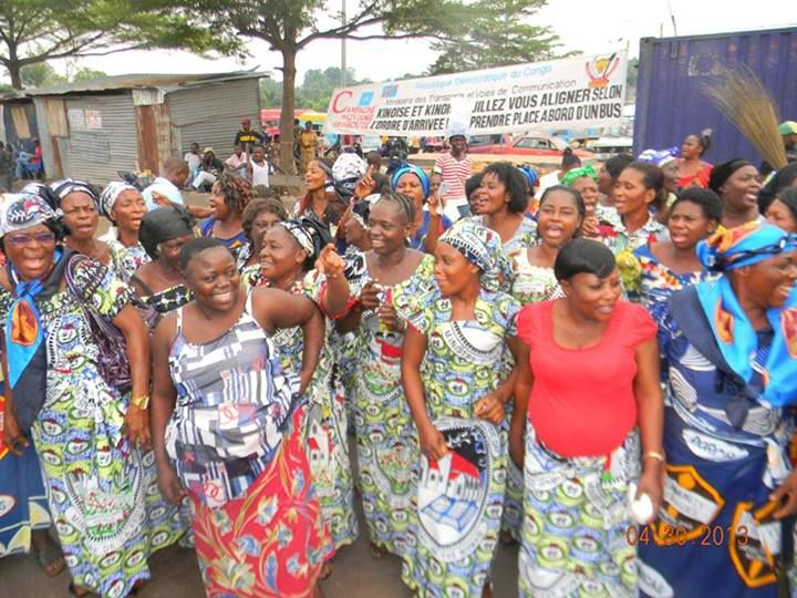 "In the Democratic Republic of the Congo, Women's Ministries leaders helped with the ""Kinshasa for Christ"" evangelism outreach meetings, which began in late August. Kinshasa has more than 10 million inhabitants -- including 12,000 Adventist Church members -- and is a focus of the Adventist Church's initiative to reach big cities. [photo courtesy ECD]"