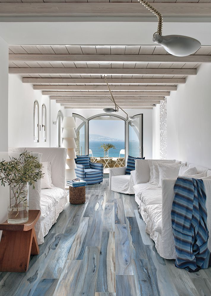Hardwood floors in beautiful blues!