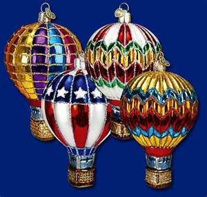ornaments!Balloons Christmas, Glasses Ornaments, Balloons Ornaments, Merck Families, Glass Ornaments, Christmas Ornaments, Hot Air Balloons, Christmas Ideas, Christmas Hot