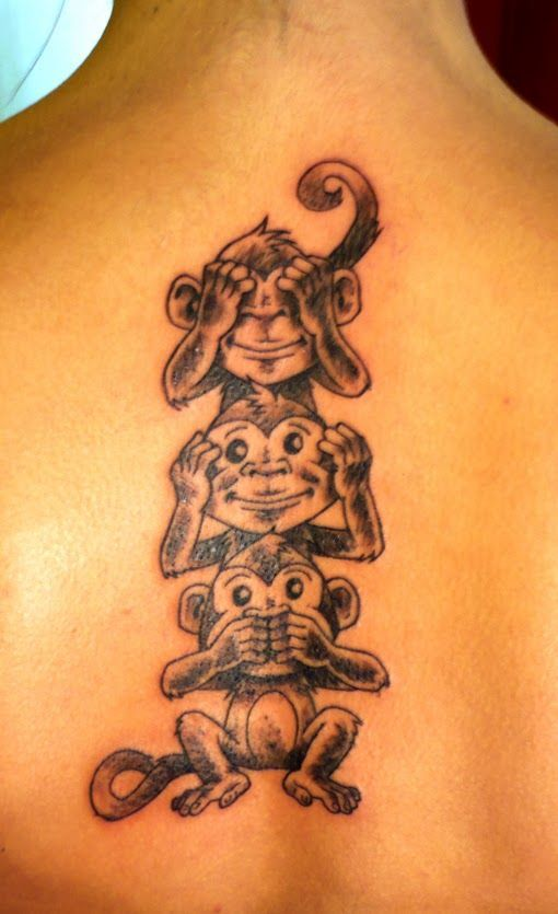 See No Evil Hear No Evil Speak No Evil Monkey Tattoo Designs