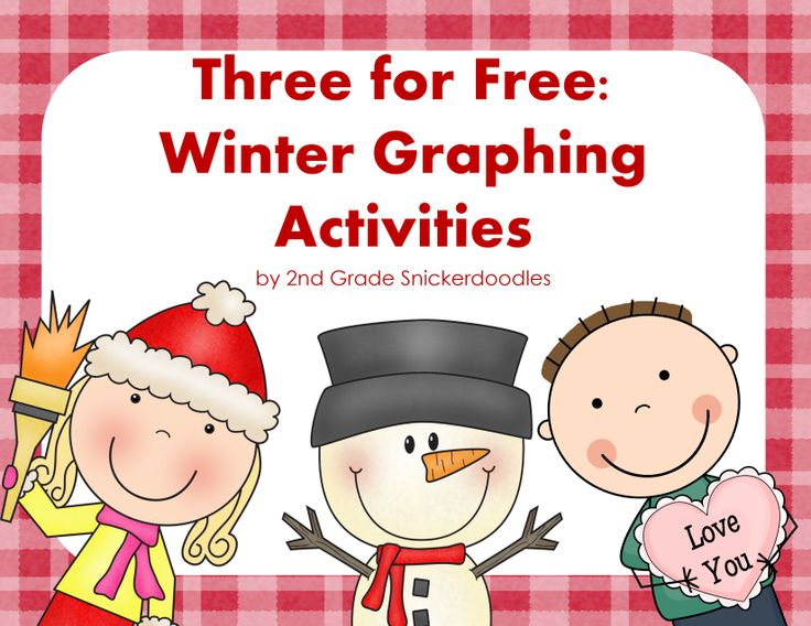 3 FREE Winter Graphing Activities by 2nd Grade Snickerdoodles